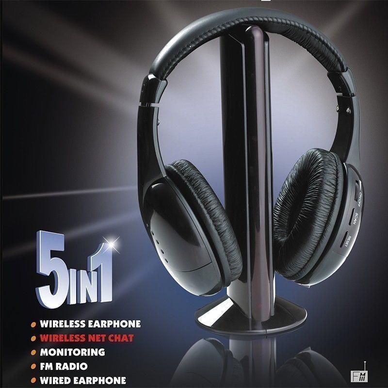 Беспроводные наушники 5 в 1 MH2001 Hi-Fi, FM радио, HQ-Tech, 5-in-1 для ТВ и др