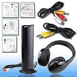 Беспроводные наушники 5 в 1 MH2001 Hi-Fi, FM радио, HQ-Tech, 5-in-1 для ТВ и др, фото 2