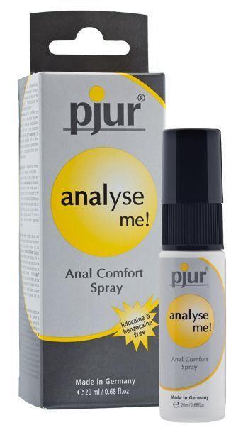 Расслабляющий анальный спрей pjur analyse me! 20 мл с пантенолом и алоэ, концентрированный