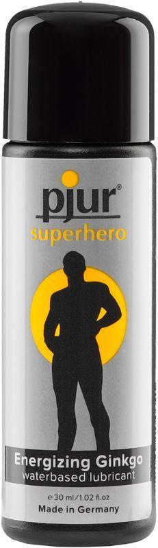 Стимулююча змазка на водній основі pjur Superhero glide 30 мл, з екстрактом гінкго білоба