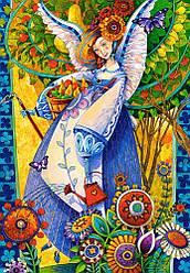 Пазлы Castorland 1000 элементов, 68х47 см, в коробке, Ангельский сбор урожая (ангелы, картины)