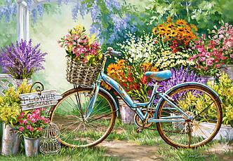 Пазлы Castorland 1000 элементов, 68х47 см, в коробке, Цветочный рынок (цветы, велосипед)