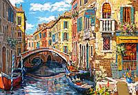 Пазлы Castorland 1000 элементов, 68х47 см, в коробке, Отражение Венеции (картина, города)
