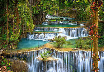 Пазлы Castorland 1000 элементов, 68х47 см, в коробке, Каскад, водопады (природа, пейзажи)