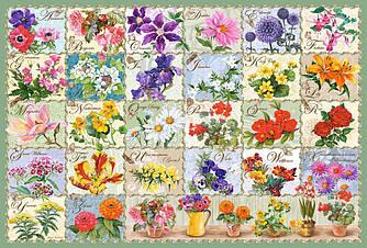 Пазлы Castorland 1000 элементов, 68х47 см, в коробке, Винтажные цветы (марки)