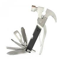 Универсальный молоток - швейцарский нож Bell Howell Tac Tool 18 в 1 плоскогубцы, отвертка, пила и др, нержавеющая сталь