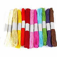 Набор бечевки (шнур) натуральной бумажной 350-3 (3004) (600м, 12 мотков по 50м )
