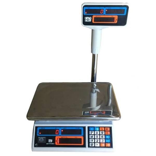 Весы торговые электронные ВТЕ-Центровес-6Т2ДВ-Н-У (6 кг)