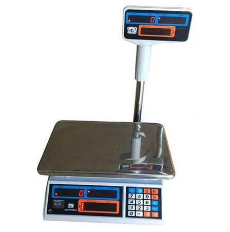 Весы торговые электронные ВТЕ-Центровес-6Т2ДВ-Н-У (6 кг), фото 2