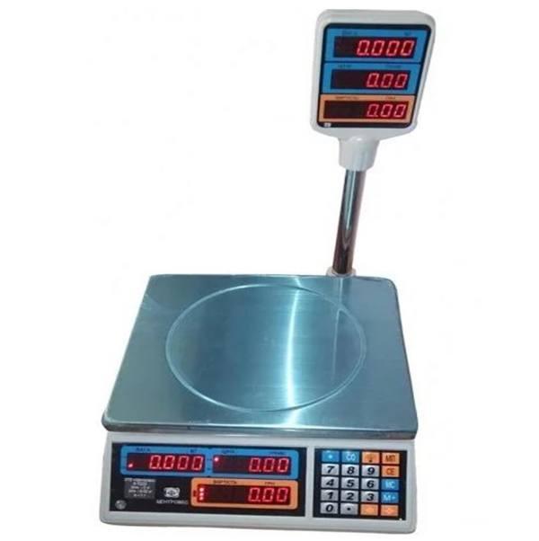 Ваги торгові електронні ВТЕ-Центровес-15Т2-ДВ-(СВ)(15 кг)