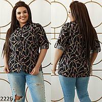 Рубашка женская короткий рукав софт 48-50 52-54 56-58
