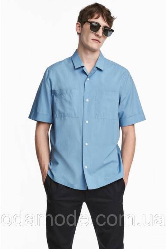Рубашка мужская  с коротким рукавом H&M