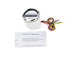 Цифровий тахометр з лічильником мотогодин I GAUGE 52MM (білий) LED дисплей, фото 2