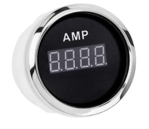 Цифровий амперметр I GAUGE 52MM з функцією попередження (чорний) LED дисплей
