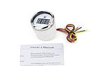 Цифровой датчик топлива судовой I GAUGE 52MM с функцией предупреждения белый LED дисплей, фото 2