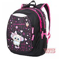 Рюкзаки для девочек Winner Stile 31*19*47 ( чёрный с розовым)