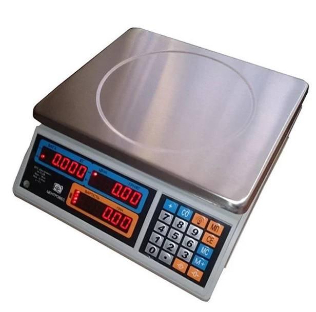 Весы торговые электронные ВТЕ-Центровес-15Т1-ДВ-(СВ) (15 кг)