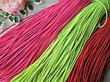 Резинка - шнур. Цвет салатовая. 3 мм.- 5 грн метр., фото 2