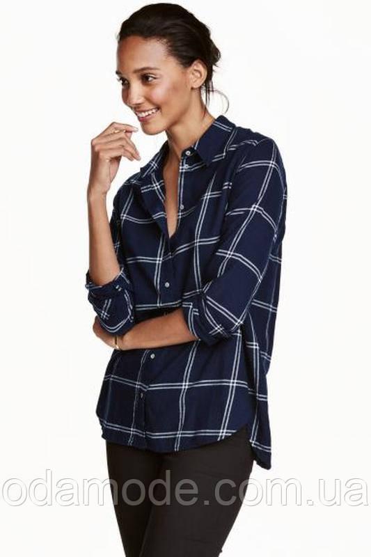 Рубашка женская  в клетку H&M