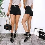 Шорты женские джинсовые чёрные 25-30, фото 2