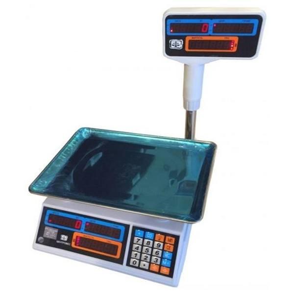 Весы торговые электронные ВТЕ-Центровес-30Т2ДВ-Н-Б (30 кг)