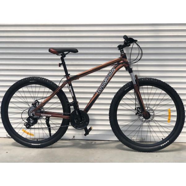 """Горный велосипед TopRider 901 R29"""" 21"""" алюминиевый с дисковыми тормозами (Коричневый)"""