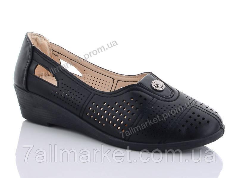"""Туфли женские стильные Лето E824 black (6 пар р.37-42) """"Baolikang"""" недорого оптом от прямого поставщика"""