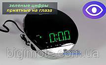 Качественные электронные часы с фм радио,  с зеленым цветом,електронные часы, часы електронные, YJ 382g, фото 2