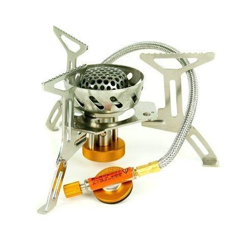 Горелка газовая со шлангом и двойной встроенной ветрозащитой Tramp TRG-047