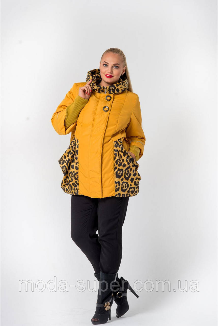 Демисезонная модель куртки  размеры 56, 58 ,60  горчица