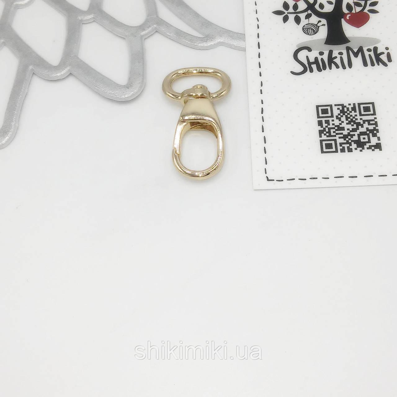 Карабин для сумок KR39-3 (15 мм), цвет золото
