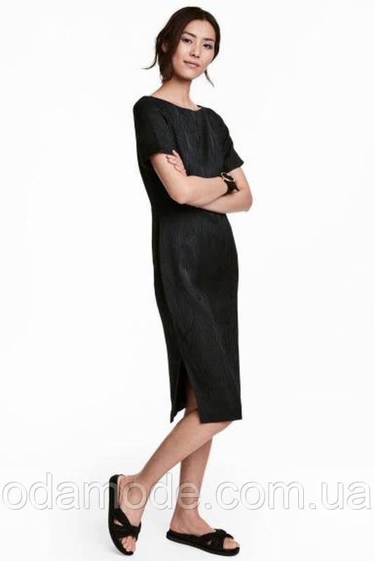 Сукня жіноча класичне жакардове чорне H&M