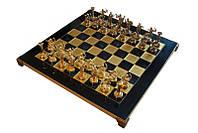 Шахматы MANOPOULOS Геркулес в деревянном футляре 4.8 кг 36х36 см (S5BLU)