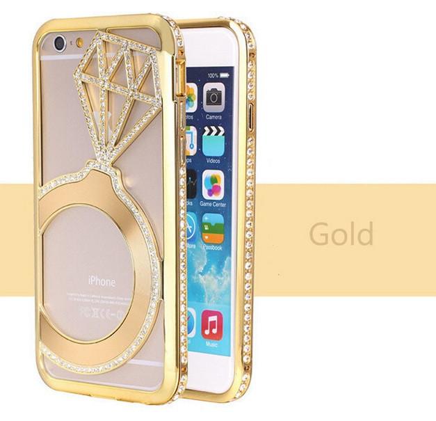 Бампер для iPhone 6 со стразами Кольцо с бриллиантом