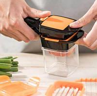 Измельчитель с контейнером для нарезки овощей Найсер Дайсер овощерезка, яйцерезка