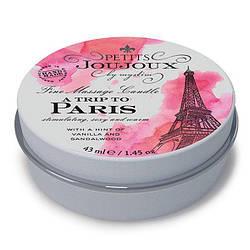 Массажная свечa Petits Joujoux - Paris - Vanilla and Sandalwood (43 мл) с афродизиаками