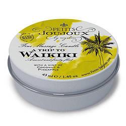 Массажная свечa Petits Joujoux - Waikiki Beach - Coconut and Pineapple (43 мл) с афродизиаками
