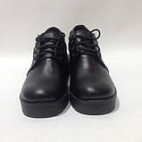 37 р. Жіночі шкіряні черевики зі шнурками на платформі Остання пара, фото 3