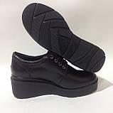 37 р. Жіночі шкіряні черевики зі шнурками на платформі Остання пара, фото 5