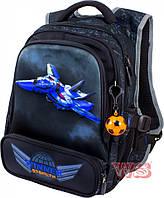 Рюкзак школьный Winner-stile 29*17.5*39.5 (чёрный с синим самолётом, чёрный с жёлтым самолётом)