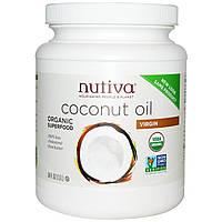 """54 унции Nutiva, Кокосовое масло """"Coconut oil' первого отжима, 1,6 л"""