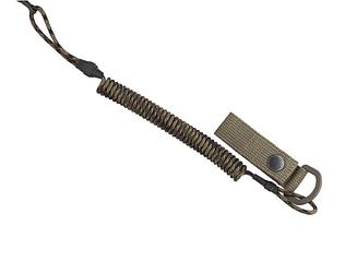 Тренчик-карабин, шнур страховочный витой для пистолета (паракорд, пиксель)