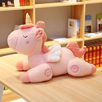 Мягкая детская игрушка Розовый единорог