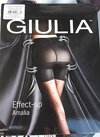 Колготи зі спеціальним моделюючим верхи і візерунком в дрібний горох EFFECT-UP AMALIA 40
