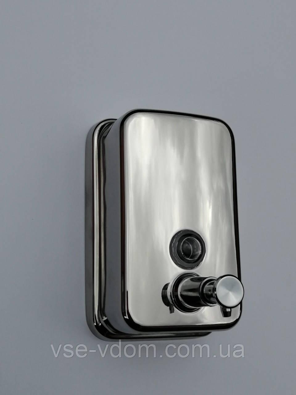 Диспенсер для жидкого мыла нержавейка 500 мл.