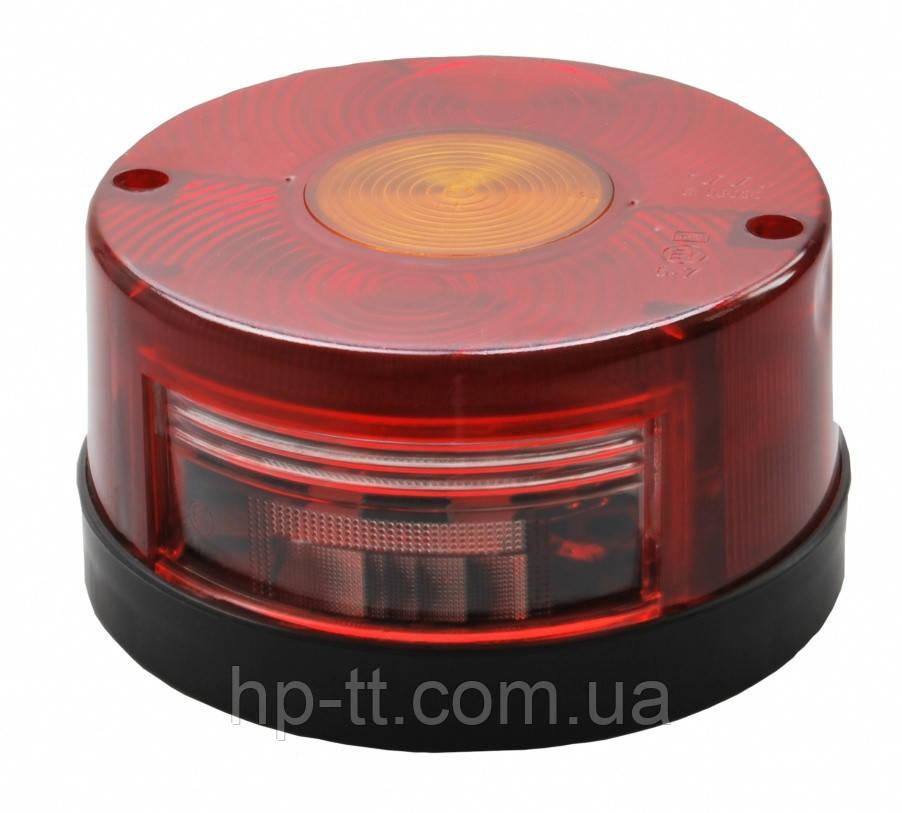 Трехкамерный фонарь круглый Veralux с подсветкой номера 10390