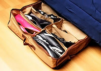 Органайзер для хранения обуви Shoes under server до 12 пар обуви, с прозрачной крышкой на замке, органайзеры