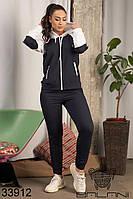 Женский спортивный костюм темно-синий 48-50,50-52,52-54, фото 1