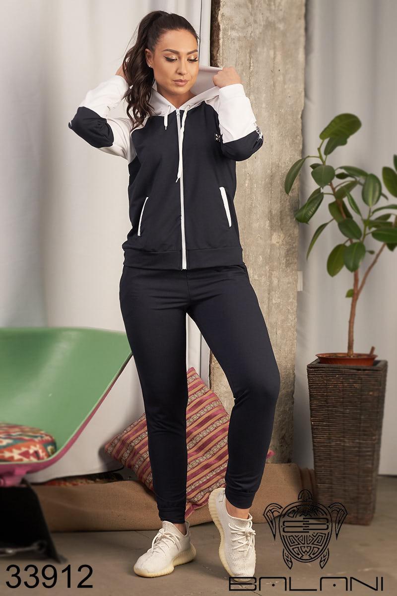 Женский спортивный костюм темно-синий 48-50,50-52,52-54