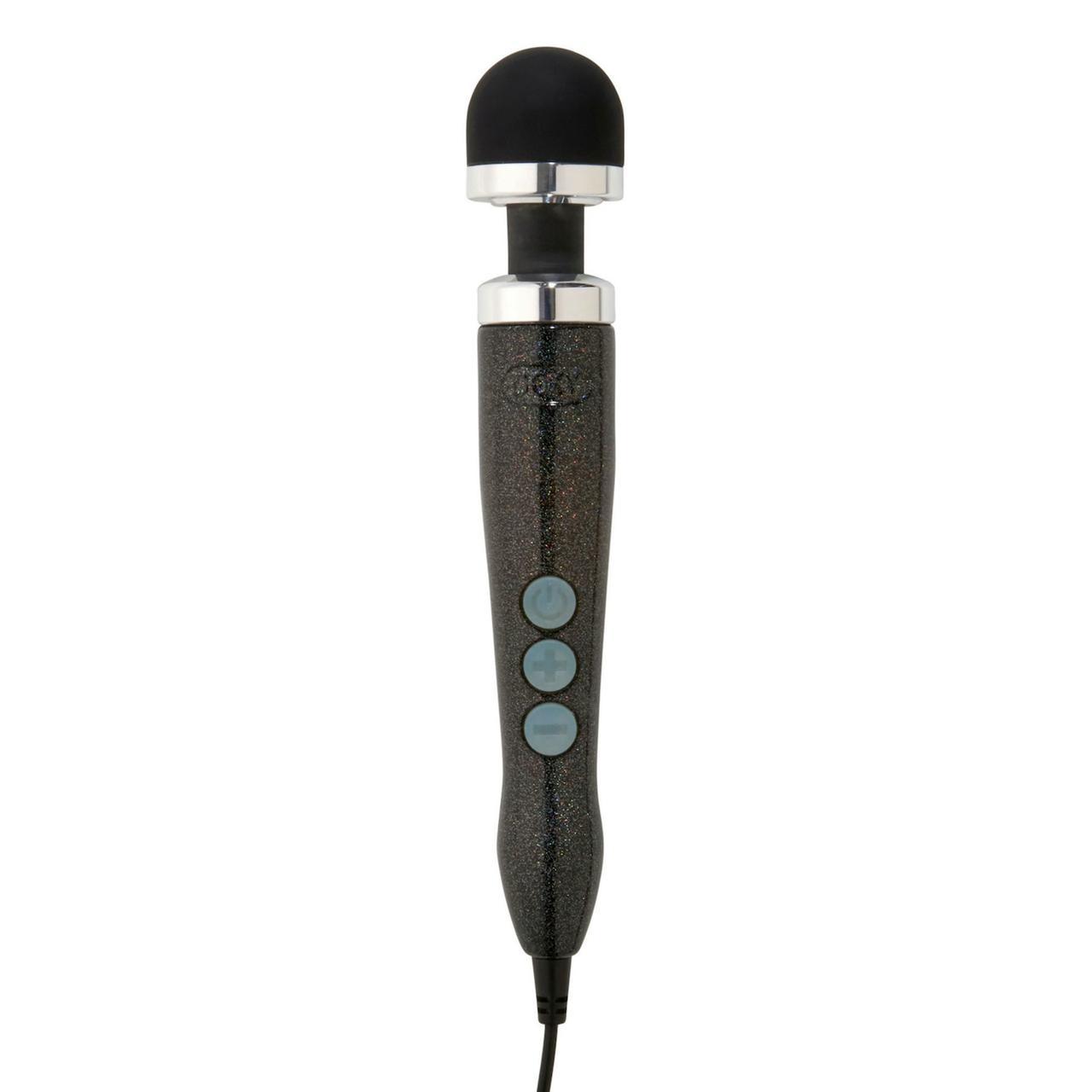 Вибромассажер DOXY Number 3 Disco Black, очень мощный, питание 220В, металлический корпус
